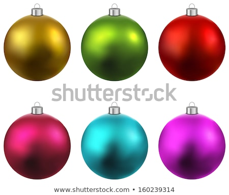 renkli · Noel · ayarlamak · yalıtılmış · gerçekçi - stok fotoğraf © rommeo79