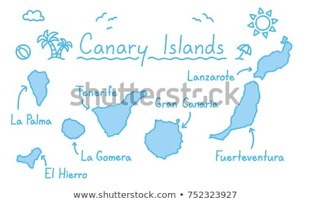 Map of La Gomera Stock photo © rbiedermann