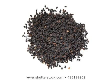 Photo stock: Haut · vue · organique · noir · sésame · isolé