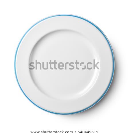 blue plate isolated on white  stock photo © xamtiw