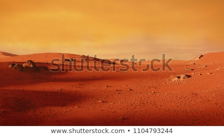 Space scene of surface of planet with spaceship  stock photo © sebikus
