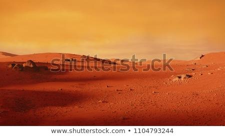 Stockfoto: Ruimte · scène · oppervlak · planeet · ruimteschip · computer