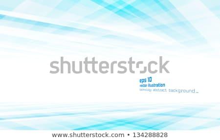 抽象的な · 青 · ぼやけた · 魔法 · ネオン · 光 - ストックフォト © beholdereye
