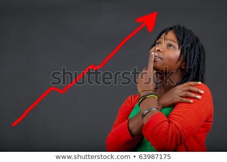 Foto stock: Africano · mulher · pessoal · crescimento · ilustração · jovem
