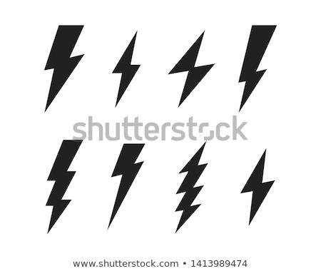 Молния Flash Thunder Storm ночь небе Сток-фото © marcrossmann