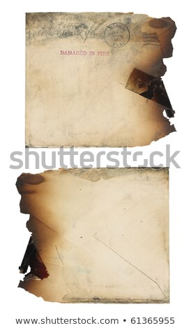 Fire Damaged Envelope Stock photo © 3mc