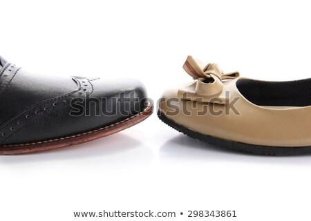 Wskazówka kobieta buty odizolowany biały sexy Zdjęcia stock © Elnur