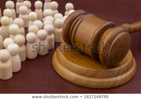 Equality and justice (symbolic figures of people) stock photo © grechka333