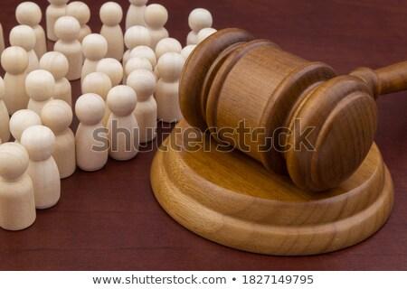 Gleichheit Gerechtigkeit symbolische Menschen mehrere Stock foto © grechka333