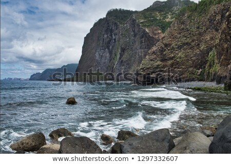 big lava rock madeira portugal Stock photo © compuinfoto