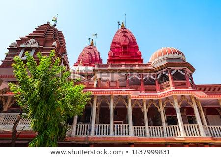 Templom Delhi kék ég égbolt város Ázsia Stock fotó © meinzahn