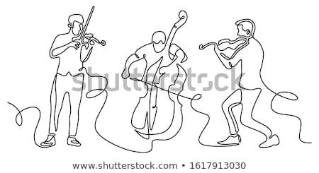 Violin line art Stock photo © sifis