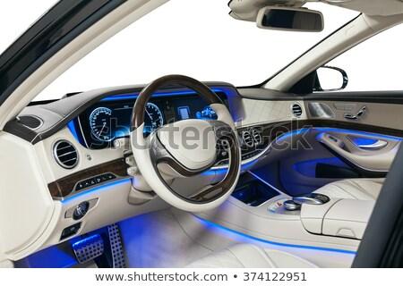 бежевый кожа автомобилей интерьер внутри мнение Сток-фото © Winner