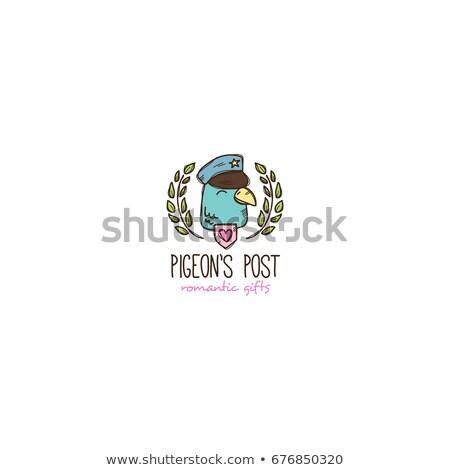 птица почтальон иллюстрация работу конверт Сток-фото © adrenalina