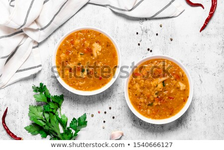 red lentils cooked with spices Stock photo © M-studio