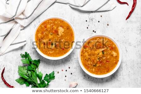 vermelho · cozinhado · temperos · comida · jantar - foto stock © M-studio