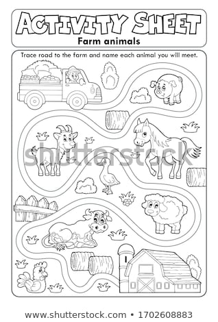 A worksheet with a farmer Stock photo © bluering