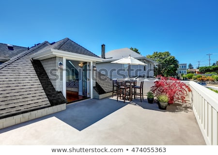 A porch with umbrella-styled roof Stock photo © bluering