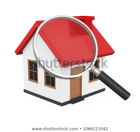 3D Rendering look for a house for sale Stock photo © alphaspirit