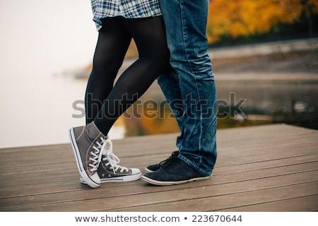 Szczęśliwy całując molo miłości Zdjęcia stock © deandrobot