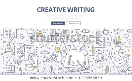 Creativa escrito texto bloc de notas oficina herramientas Foto stock © fuzzbones0