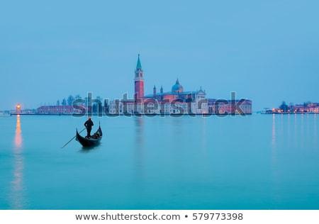 gondolas on grand canal and san giorgio maggiore venice italy stock photo © dezign80