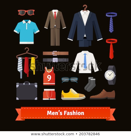Suit on hanger and sunglasses vector illustration. Stock photo © RAStudio