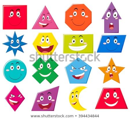 Diferente formas expressões faciais ilustração sorrir cara Foto stock © bluering
