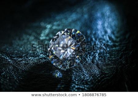Diamant edelsteen kostbaar vector kunst illustratie Stockfoto © vector1st