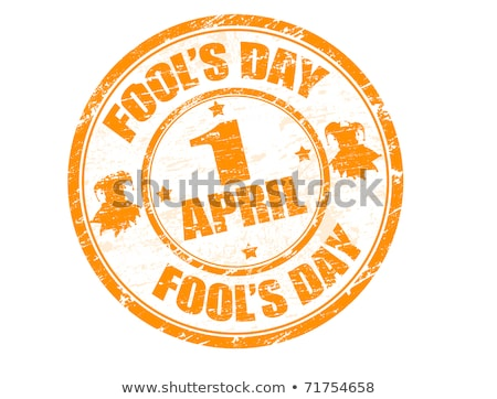 Grunge rubber stamp with the text Fool's Day stock photo © H2O