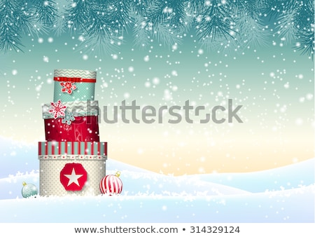 Christmas background with white snowflakes. EPS 10 Stock photo © beholdereye