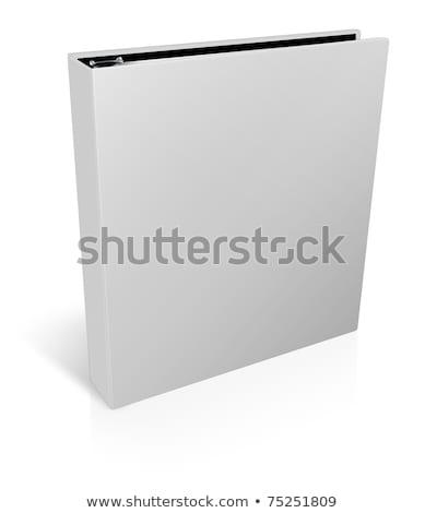 ブリーフケース ファイル 白 旅行 袋 革 ストックフォト © janssenkruseproducti