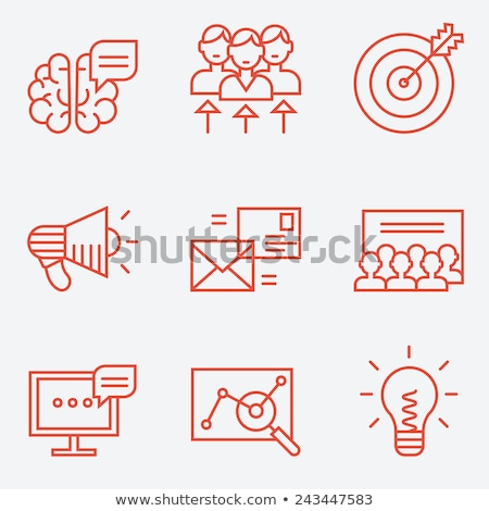 Target audience line design Stock photo © kali