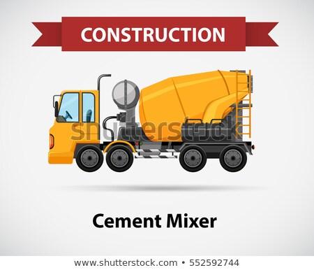Icône ciment mixeur illustration construction fond Photo stock © bluering