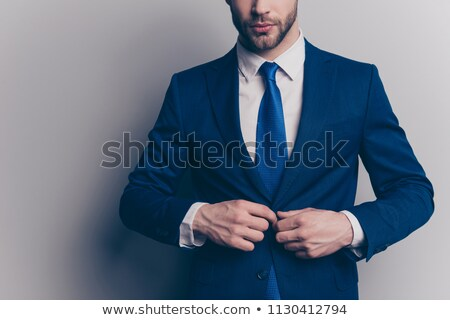 エレガントな 若い男 タキシード ジャケット ボタン ストックフォト © feedough