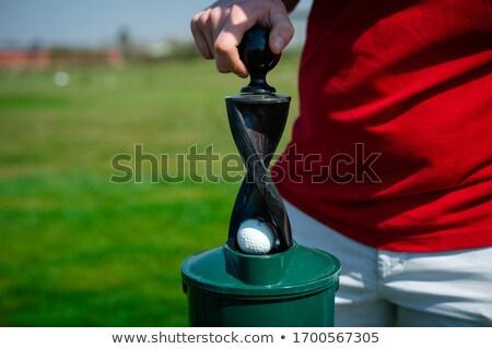 Golfball máquina de lavar grama golfe esportes clube Foto stock © njnightsky