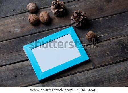 美しい 青 フレーム ナッツ 素晴らしい 木材 ストックフォト © Massonforstock