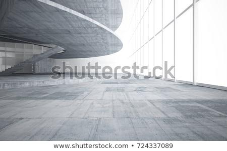 Modern beton lépcsőház absztrakt építészeti részlet városi Stock fotó © stevanovicigor