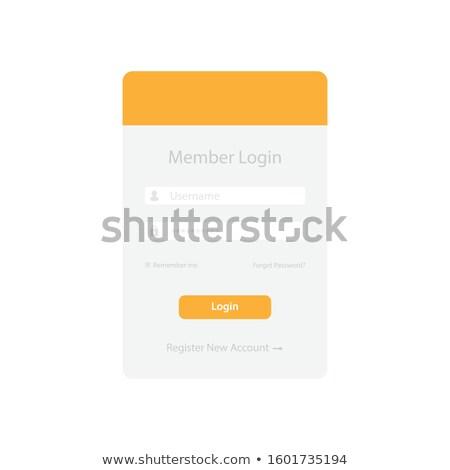 Mínimo usuário interface login forma projeto Foto stock © SArts