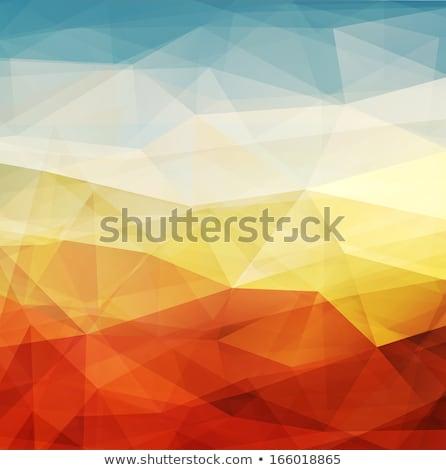 Abstract zonsondergang meetkundig grafisch ontwerp element papier Stockfoto © pakete