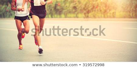 Maraton futók copy space űr szöveg test Stock fotó © bokica