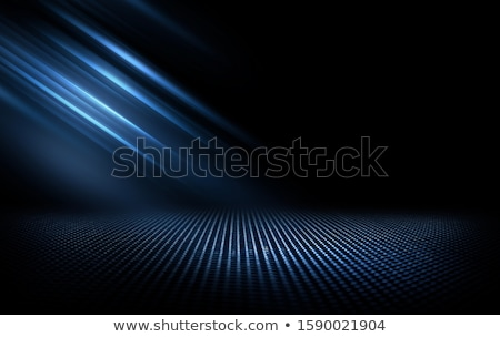 Black abstract background with blue lines, neon grid with reflec Stock photo © kurkalukas