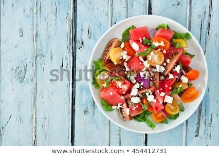 Melón albahaca postre frescos comida dieta Foto stock © M-studio
