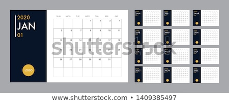 Calendar 2020 grid template Stock photo © orensila