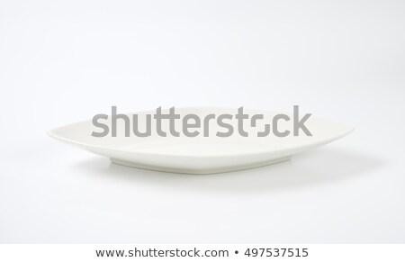 diamond shaped dinner plate stock photo © digifoodstock