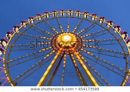 big wheel on a fun fare shot taken with intentional camera movement icm stock photo © haraldmuc
