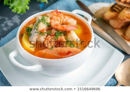 frutti · di · mare · alimentare · zuppa · vegetali · piatto - foto d'archivio © m-studio