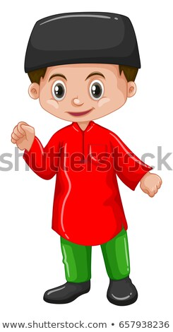 Afghanistan boy in red shirt Stock photo © bluering