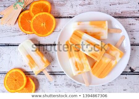 orange popsicle Stock photo © M-studio