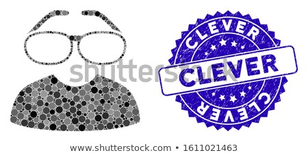 Clever Spectacles Vector Icon Stock photo © ahasoft